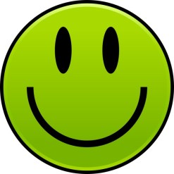 Green Happy Face Sticker