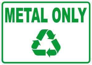 Metal Only Sticker