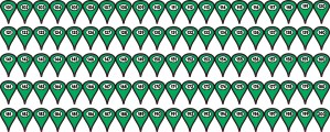 101-200 Green Map Pointer Stickers