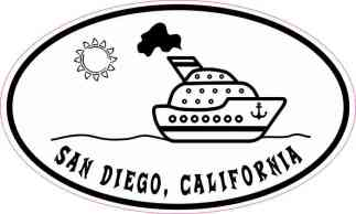 Cruise Ship Oval San Diego Sticker