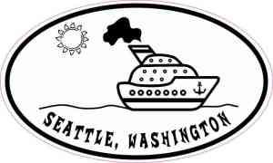 Cruise Ship Oval Seattle Sticker