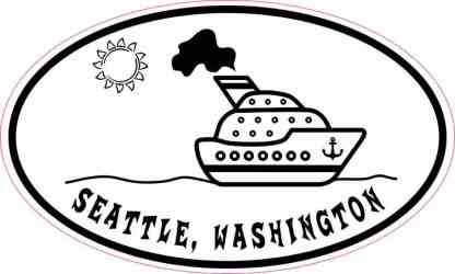 Cruise Ship Oval Seattle Sticker