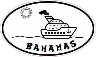 Cruise Ship Oval Bahamas Sticker