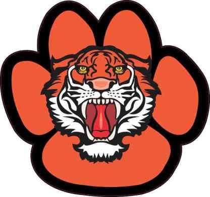 Orange and Black Tiger Paw Sticker