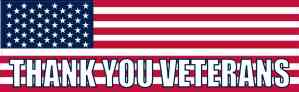 American Flag Thank You Veterans Magnet