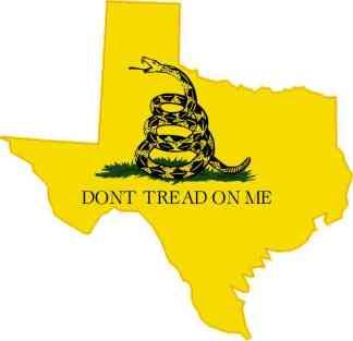 Texas Gadsden Flag Sticker