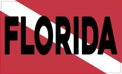 Florida Dive Flag Sticker