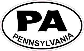 Oval Pennsylvania Sticker