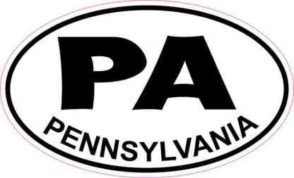 Oval Pennsylvania Sticker