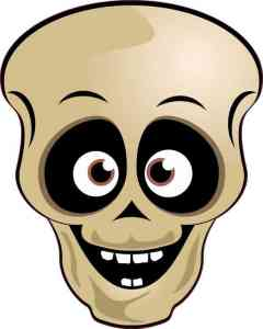 Brown-Eyed Skull Sticker