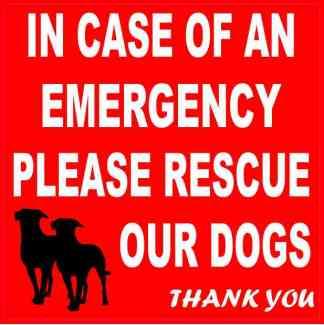 Please Rescue Our Dogs Sticker