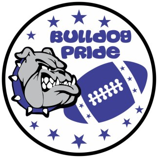 Blue Bulldog Pride Sticker