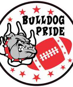 Red Bulldog Pride Sticker
