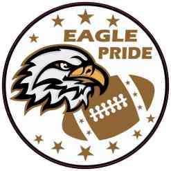 Brown Eagle Pride Sticker