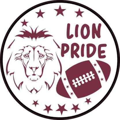 Maroon Lion Pride Sticker