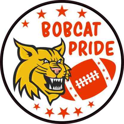 Red Bobcat Pride Sticker