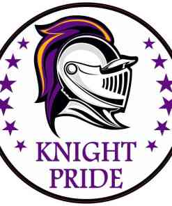 Purple and Gold Knight Pride Sticker