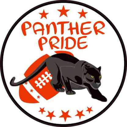 Red Football Panther Pride Sticker