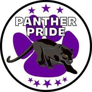 Purple Paw Print Panther Pride Sticker
