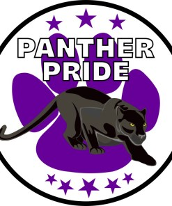 Purple Paw Print Panther Pride Sticker