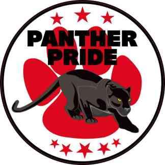 Red Paw Print Panther Pride Sticker