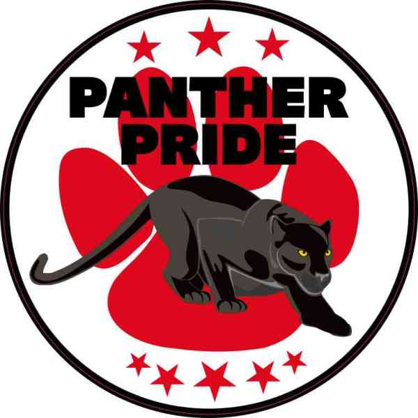 Red Paw Print Panther Pride Sticker