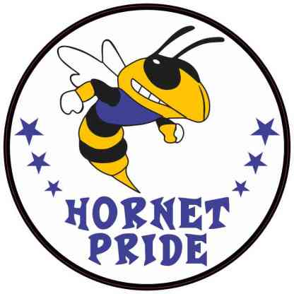 Blue and Gold Hornet Pride Sticker