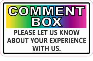 Colorful Comment Box Magnet