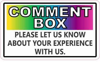 Colorful Comment Box Magnet