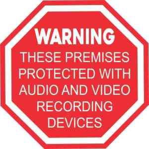 Audio and Video Recording Sticker