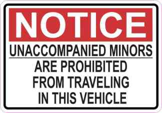 Notice Unaccompanied Minors Are Prohibited Magnet