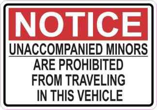 Notice Unaccompanied Minors Are Prohibited Magnet
