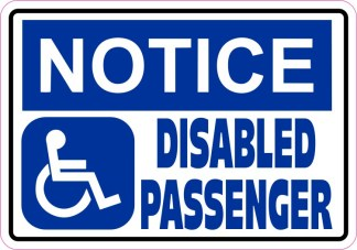 Notice Disabled Passenger Magnet