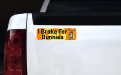 I Brake for Bunnies Sticker