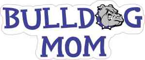 Blue Bulldog Mom Sticker