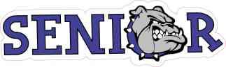 Blue Bulldog Senior Sticker