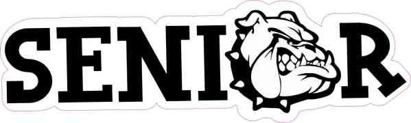 Bulldog Senior Sticker