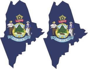 Maine State Flag Sticker