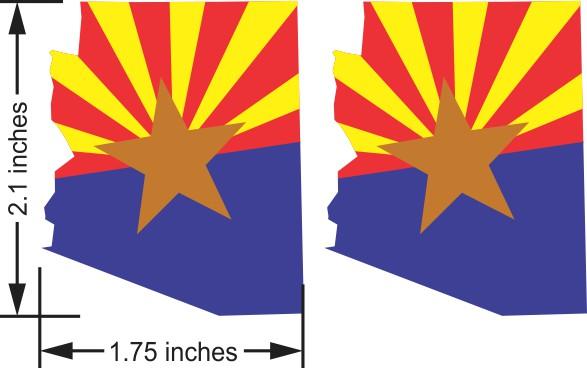 Arizona Flag Stickers