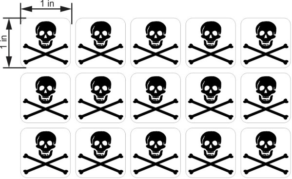 Jolly Roger Flag Stickers