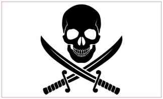 White Background Jolly Roger Magnet