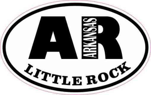 Oval AR Little Rock Arkansas Sticker