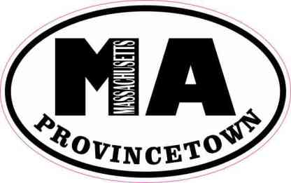 Oval MA Provincetown Massachusetts Sticker