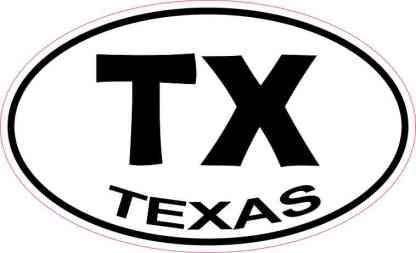Oval Texas Sticker