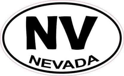 Oval Nevada Sticker