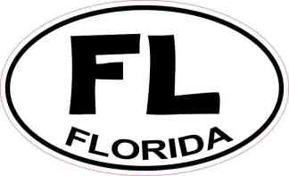 Oval Florida Sticker