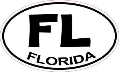 Oval Florida Sticker