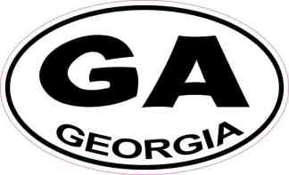 Oval Georgia Sticker