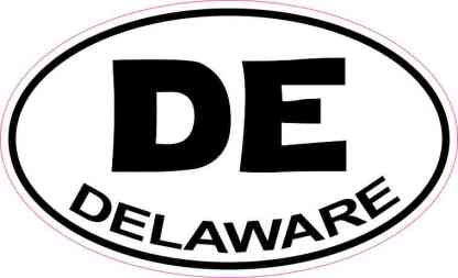 Oval Delaware Sticker