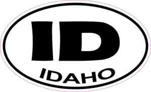Oval Idaho Sticker